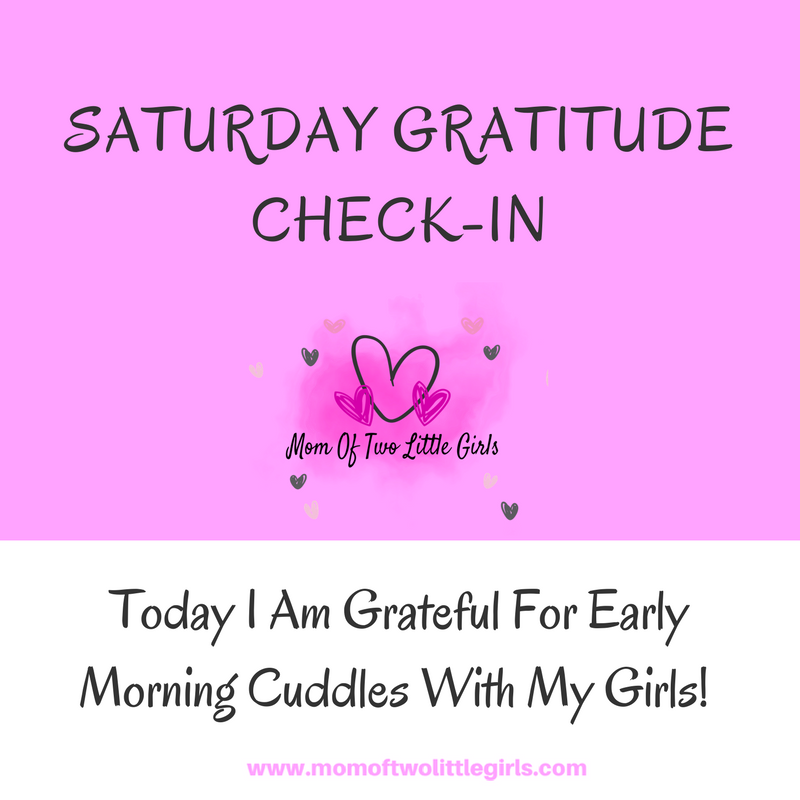 Saturday Gratitude CheckIn