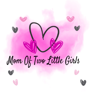 Mom Of Two Little Girls Logo