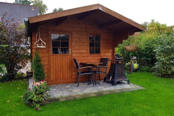 Garden shed home office
