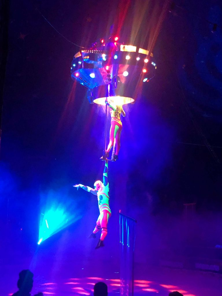 trapeze artists at Paulo's Circus 2021