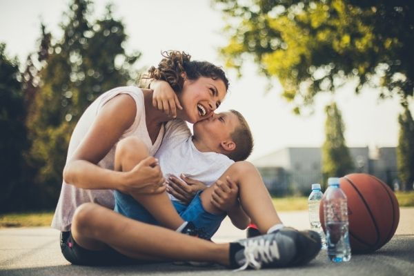 exercise regularly with your kids